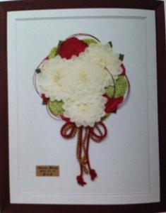 名古屋市千種区の花屋グラッシーの押し花ブーケブラウン