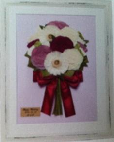 名古屋市千種区の花屋グラッシーの押し花ブーケピンク