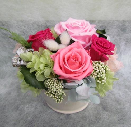 名古屋市千種区覚王山の花屋グラッシーのプリザーブドアレンジ38