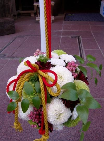 名古屋市千種区の花屋グラッシーのボールブーケB5