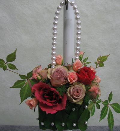 名古屋市千種区の花屋グラッシーのバッグブーケBg9