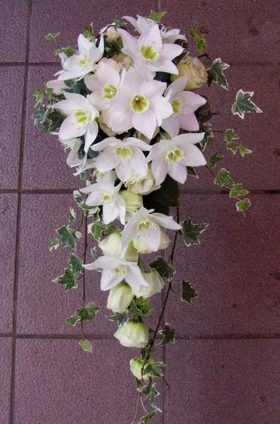 名古屋市千種区の花屋グラッシーのキャスケードブーケCa9