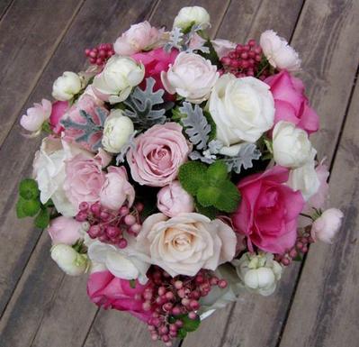 名古屋市千種区の花屋グラッシーのラウンドブーケR21