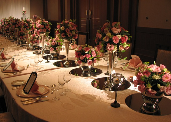名古屋市千種区の花屋グラッシーのホテルウェディングHKBF100711