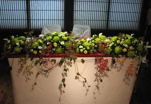 名古屋市千種区の花屋グラッシーの和の披露宴YMMR35