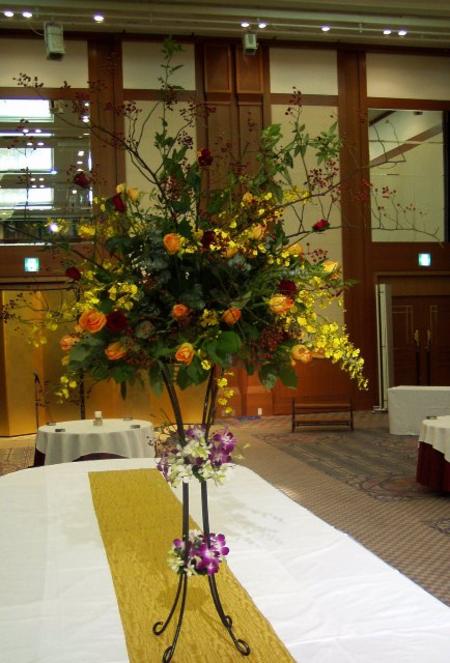 名古屋市千種区の花屋グラッシーのパーティー用装花hoshoC051117