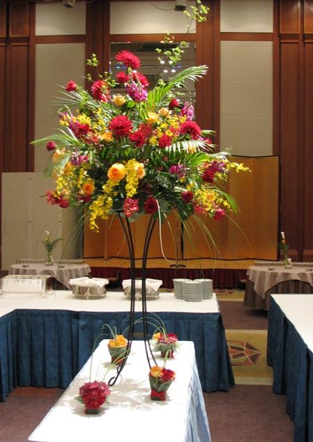 名古屋市千種区の花屋グラッシーのパーティー用装花hoshoC100514