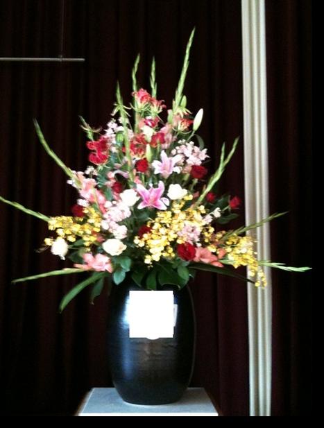 名古屋市千種区の花屋グラッシーの入学、卒業式の装花