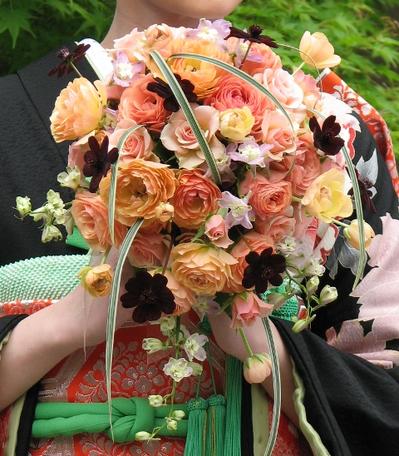 名古屋市千種区の花屋グラッシーのオーバルブーケO91