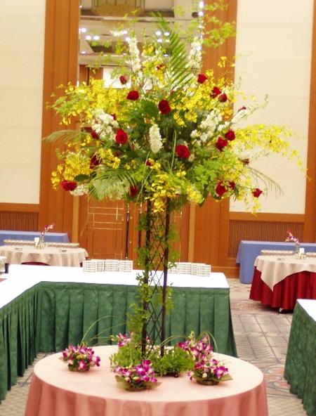 名古屋市千種区の花屋グラッシーのパーティー用装花hoshoC060519